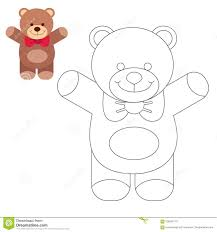 coloring book kids coloring pages teddy bear stock vector ilration of