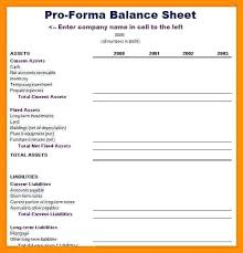 balance sheet and income statement template pro forma financial statements excel pro income statement template