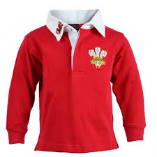 toddler wales rugby shirt long sleeve red and white