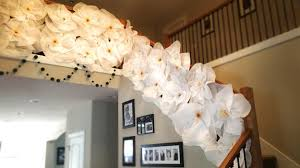 White Paper Flower Garland How To Make Hanging Flower Out Of Tissue Paper Flowers Healthy