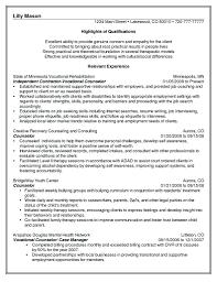 Resume Mental Health Counselor Resume Sample Proposal