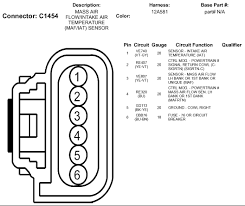 2010 ford 6 wires at mass air flow sensor temperature sensor