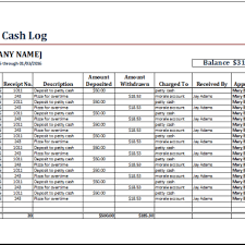 cash log template company petty cash log template archives excel templates