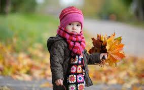 cute baby in autumn hd wallpaper