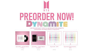 PRE-ORDER BTS' NEW SINGLE 'DYNAMITE' NOW! New Merch & How to stream on  spotify - YouTube