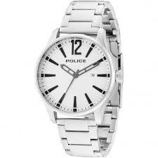 police men s dallas silver bracelet watch
