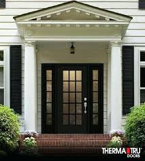 smooth star fiberglass door painted black with granite privacy glass and therma tru weatherstrip seal replacement hinges therma tru