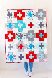403 best Tutorials - random quilt blocks images on Pinterest ... & plus side quilt pattern (free pattern) / ann kelle fabrics Adamdwight.com