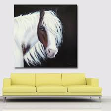 Cheap Horse Posters Abstract Art Prints Horse Flowing Mane Picture Wall Art Animal Painting Prints And Posters For Living Room Wall Decor In Painting Calligraphy From
