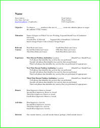Resume Template Format In Ms Word Free Download Simple With