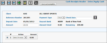 cash invoices regular cash receipts
