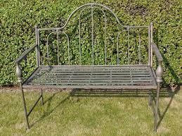 antique bronze metal garden bench