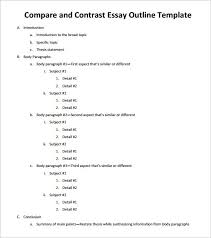 essay outline sample example format  sample compare and contrast essay outline pdf