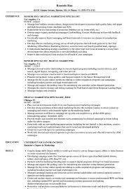 Download Specialist Digital Marketing Resume Sample as Image file