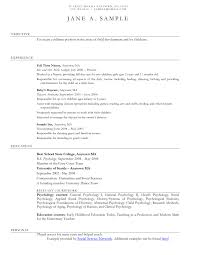 Sample Resume Babysitting Experience Best Of Nanny Samples