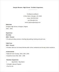 Resume For No Work Experience High School 11 High School Student Resume Templates Pdf Doc Free