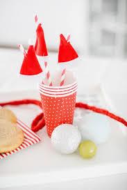 diy one minute santa hat drink stirrers