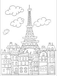 Small Picture eiffel tower coloring page Google Search Landscapes Houses