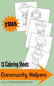 free community helpers coloring sheets   free homeschool deals ©  homeschool me has just released    community helpers coloring sheets