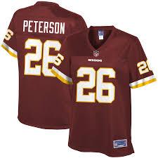 Nfl Redskins Player Adrian Pro Line Peterson Women's Washington Jersey Burgundy