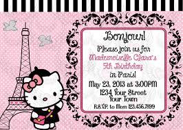 hello kitty parisian paris girl invitation and similar items hello kitty parisian paris girl invitation
