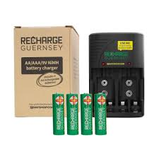 quick view aa aaa and 9v nimh mains battery charger with 4x aa 2000mah rechargeable batteries