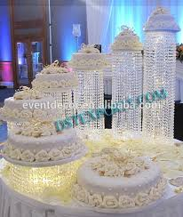 new acrylic crystal chandelier wedding cake stand regarding incredible residence chandelier cake stands ideas