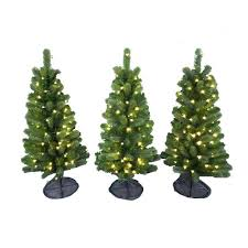 decor model artificial trees pre lit led colorado spruce artificial pathway trees with warm white l