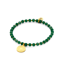 green natural stones bracelet with heart chakra pendant co88 collection official web jewelry bracelets watches