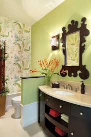 Powder Room Wallpaper Hot Summer Trend 25 Dashing Powder Rooms With Tropical Flair
