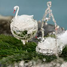 Schwan Im Nest 9 Cm Inge Glas Nostalgischer Weihnachtsschmuck