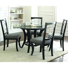 gray dining table. Gray Dining Set Black Silver Company 5 Piece Round Table In Tables Wash Chairs E