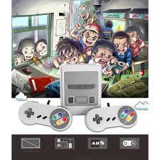 Máy Chơi Game SUPER NES Classic Phiên Bản Máy SNES Mini SFC Retro Đôi tay  cầm chơi game Tích Hợp 620trò