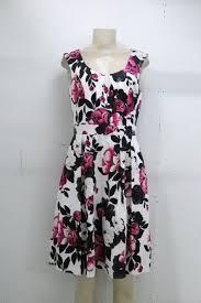 White House Black Market Floral Dress Sz 8