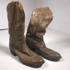details about tony lama full quill ostrich leather cowboy boots mens sz 10 d style 8823 bd02