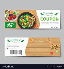 Vegetarian Food Coupon Discount Template