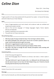 Music Resume Examples Contact Your Favorite Musicians Free At