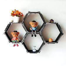 diy honeycomb shelves home decorative wall floating honeycomb shelves hexagonal lattice cube storage box for living diy honeycomb shelves