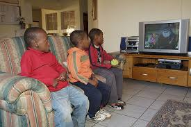 black kids watching tv. african children watching tv black kids k