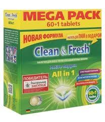 "<b>Таблетки для ПММ</b> ""<b>Clean&Fresh</b>"" Allin1 МИНИ табс (mega) 60 ..."