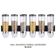 wall mounted double triple cereal dispenser dry food storage container 2 colour