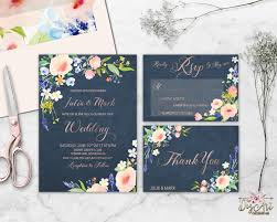 Repin Now For Later Floral Wedding Invitation Printable Navy