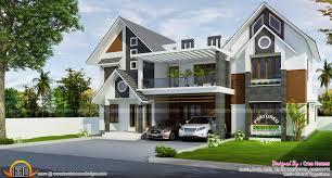 modern sloped roof home