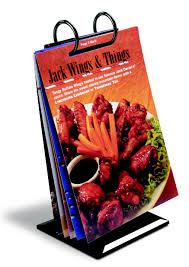 Menu Flip Charts Black Table Top Flip Chart With Black Rings 30 Pcs Per Case