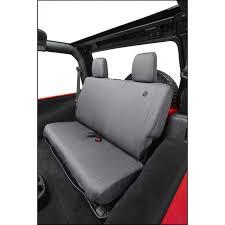 bestop charcoal custom tailored rear seat covers for 2008 12 jeep wrangler jk 2 door unlimited 4 door models