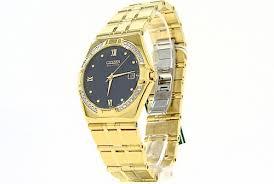 citizen eco drive bm0722 57e elektra gold tone 28 diomonds men s citizen eco drive bm0722 57e elektra gold tone 28 diomonds men s watch by citizen