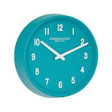 london clock company prime teal wall