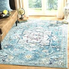 blue rug vintage medallion cream 5 1 x 7 6 light safavieh evoke handmade ivory wool