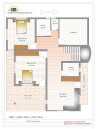 Duplex House Plan and Elevation   Sq  Ft    Kerala home    Duplex House First Floor Plan   Sq  Ft    Sq M