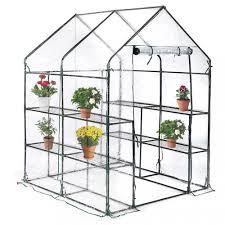 portable mini greenhouse outdoor plant shelves walk in garden winter green house 0